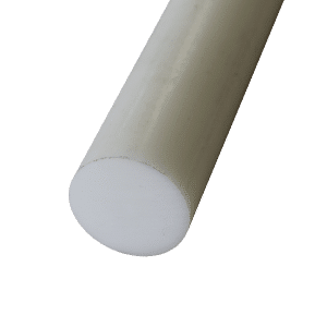 Acetal rod in white