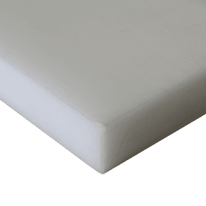 Acetal sheet in white